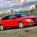 Audi A6 matt red wrap