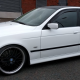 BMW 530 gloss white vinyl wrap