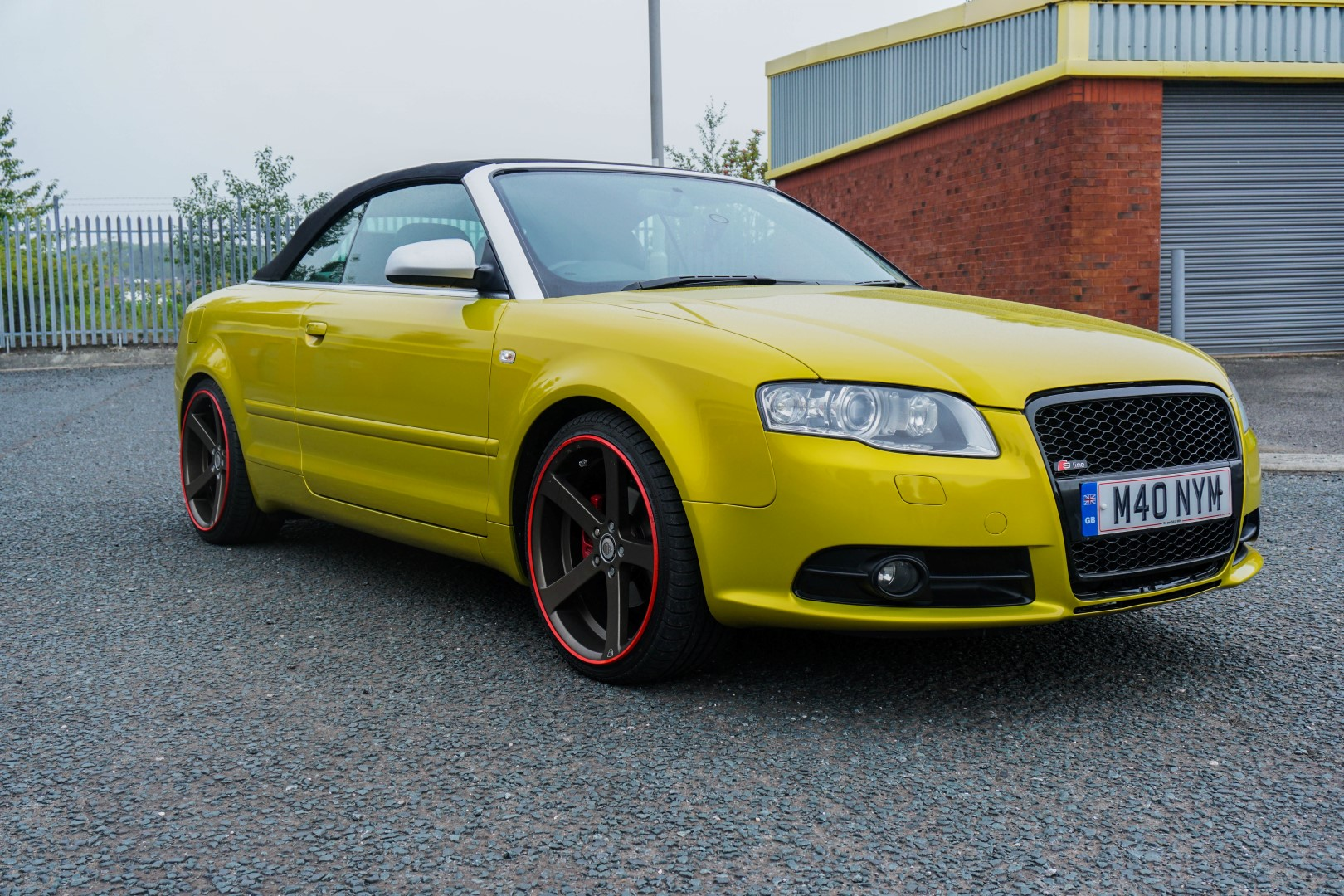 Audi A4 Convertible Full Wrap From Black To 3m Lemon Sting