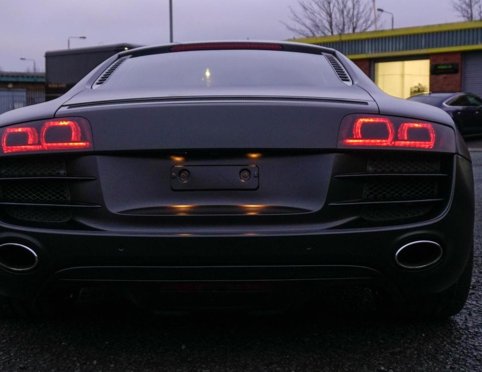 Audi R8 satin black wrap